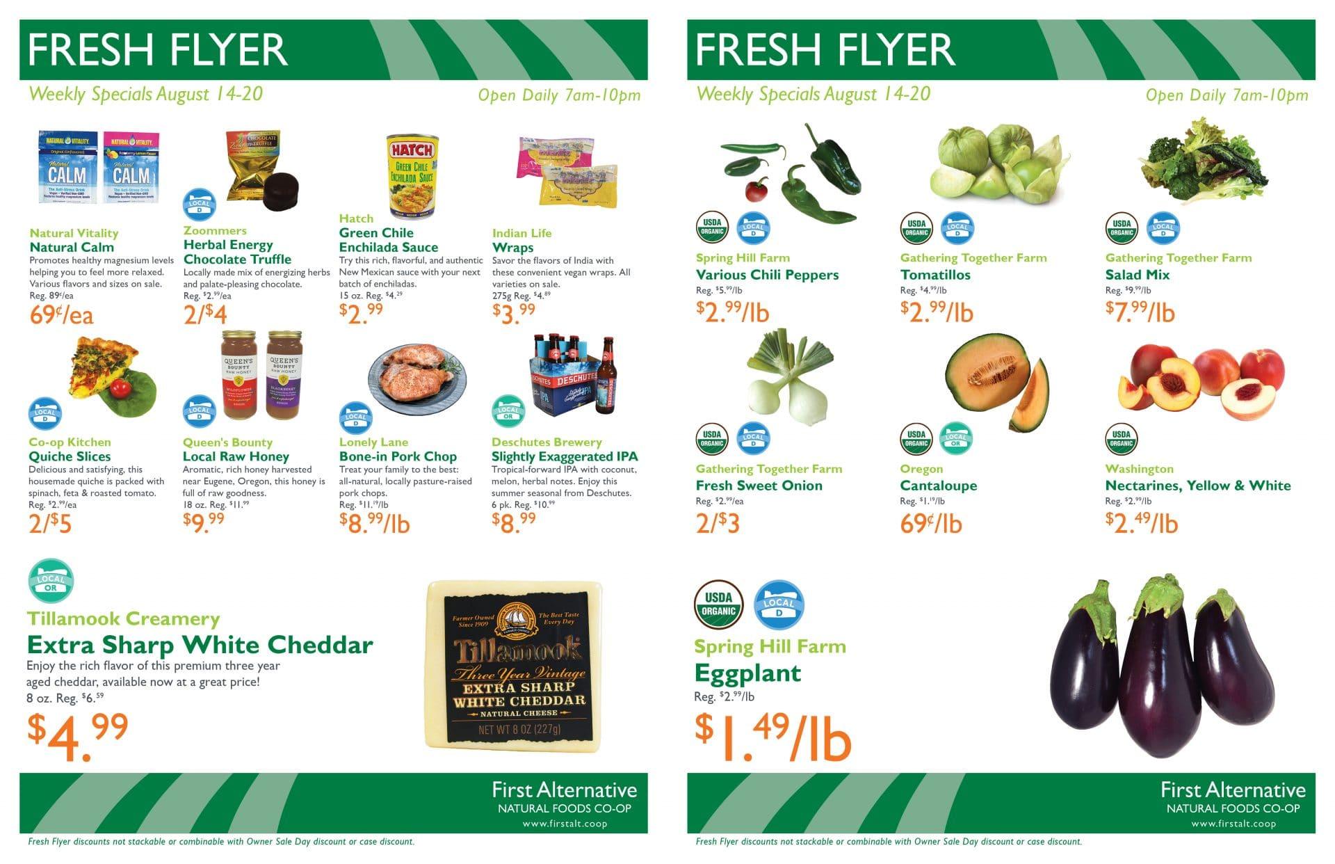 First Alternative Co-op Fresh Flyer August 14-20