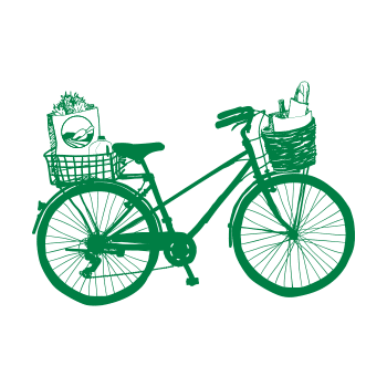 Bicycle with Groceries