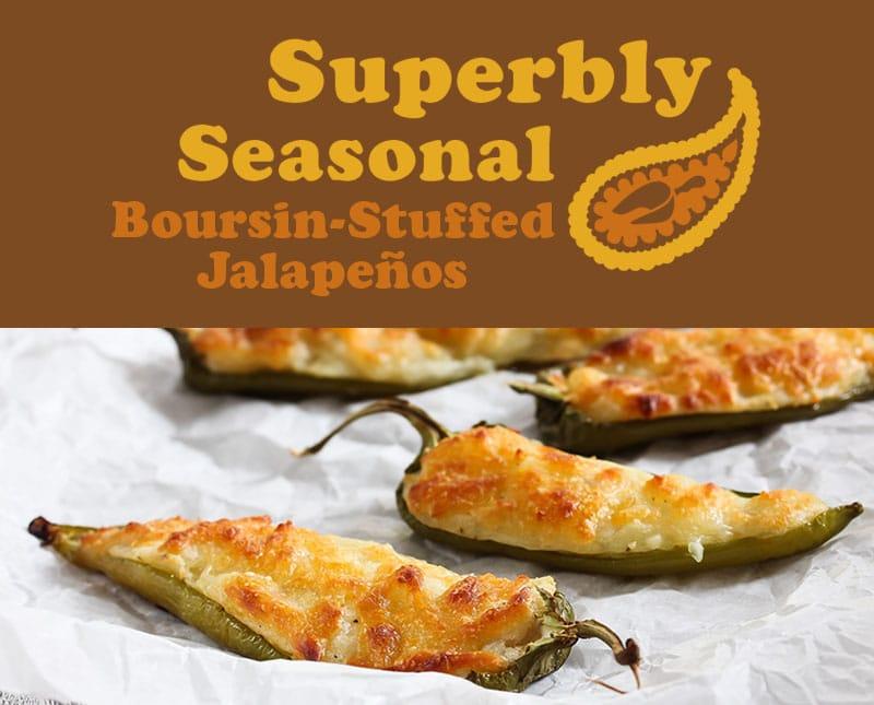 Boursin Stuffed Jalapenos