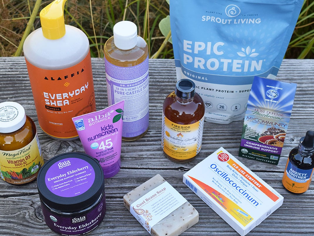 collection of body care and wellness products