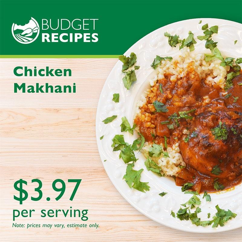 Budget Recipe Chicken Makhani