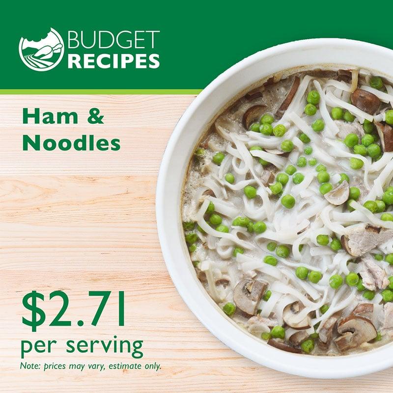 Budget Recipe Ham and Noodles