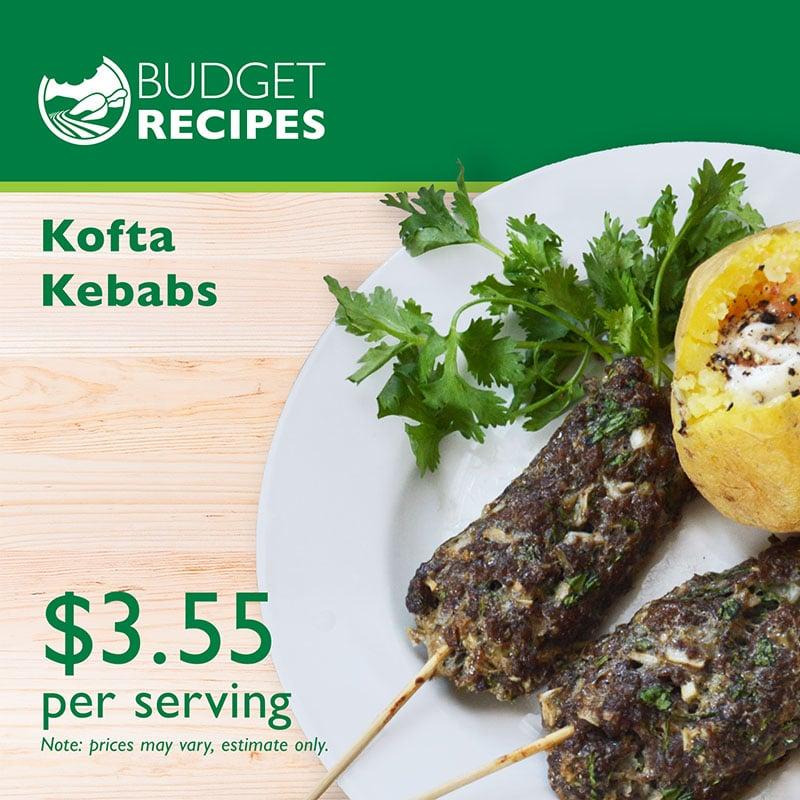 Budget Recipe Kofta Kebabs