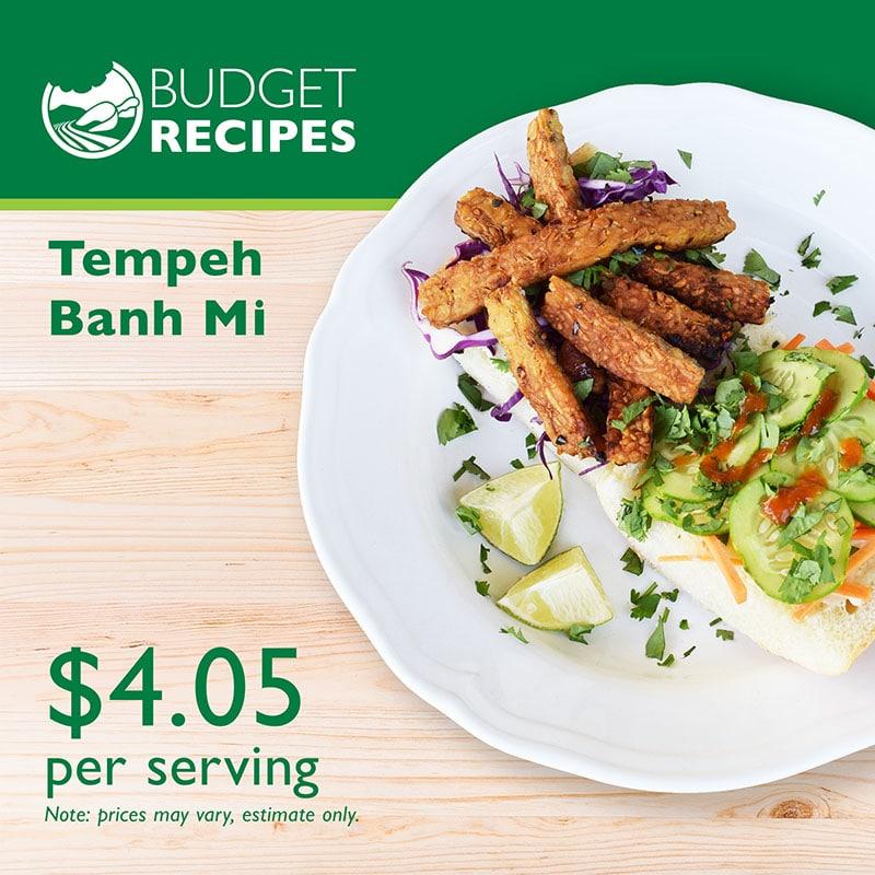Budget Recipe Tempeh Banh Mi