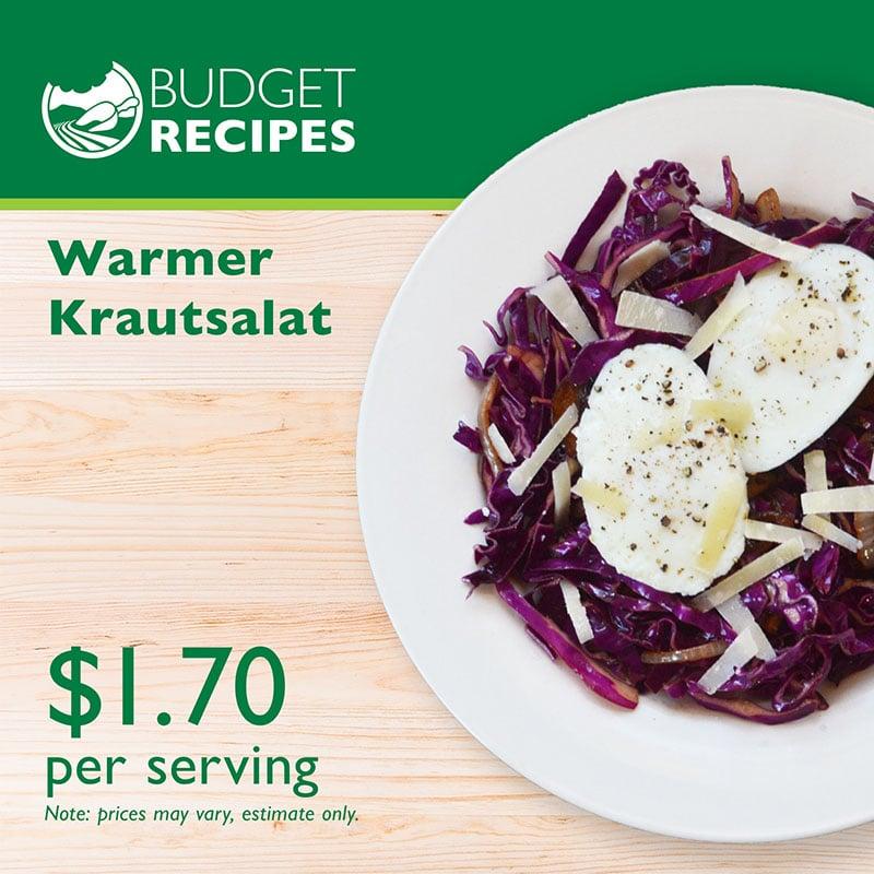 Budget Recipe Warmer Krautsalat