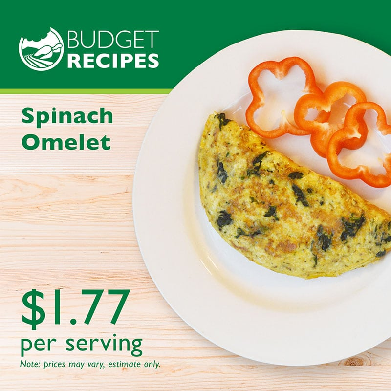 Budget Recipe Spinach Omelet