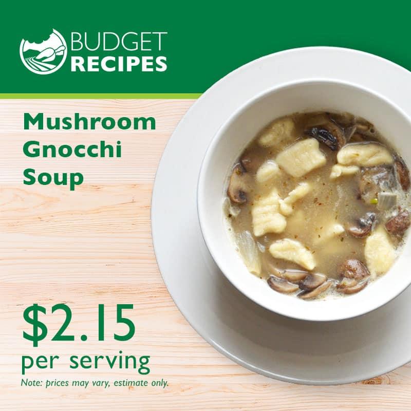 Budget Recipe Gnocchi Soup