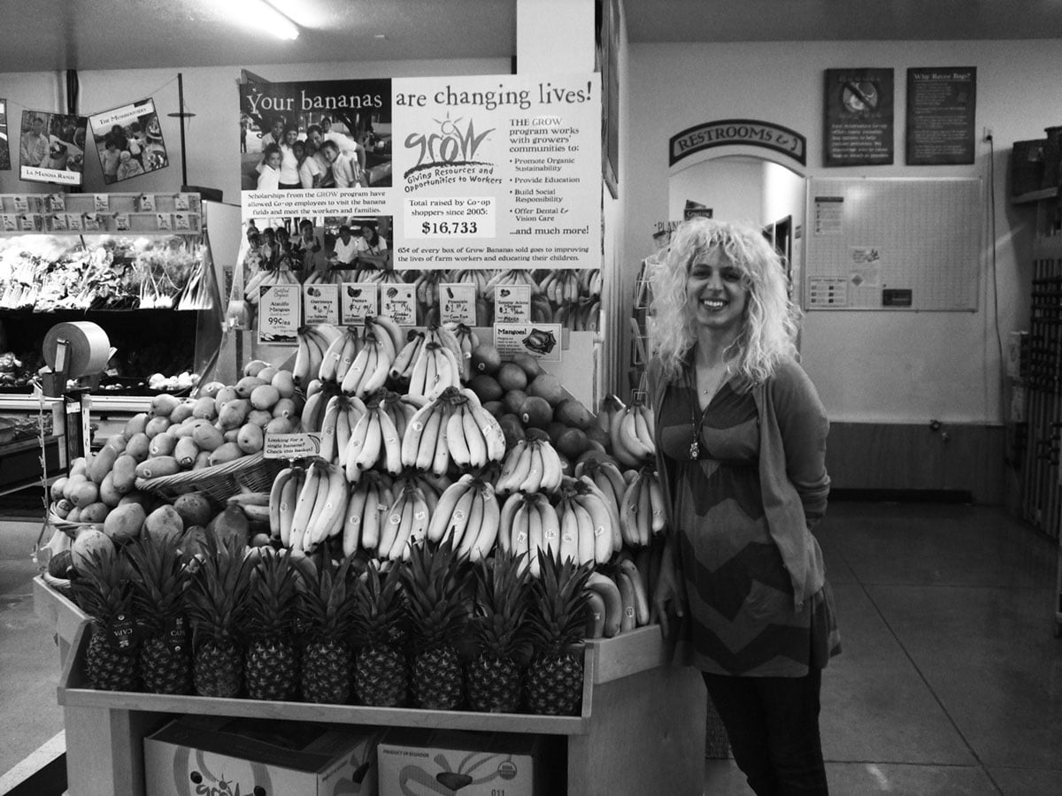 2012 - Carli Near the GROW Bananas Display