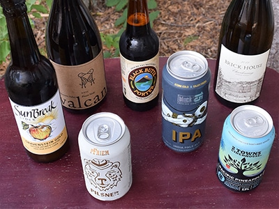 A wide selection of local beer, wine and cider