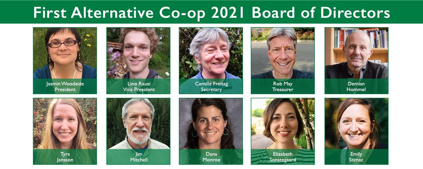 2021 First Alternative Co-op Board Members
